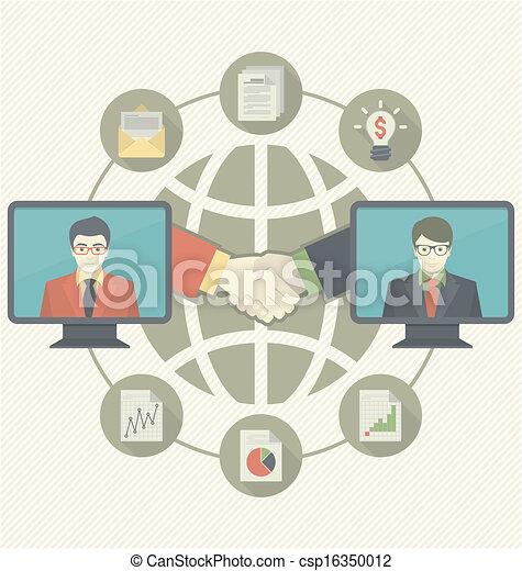 Business Cooperation Concept  - csp16350012