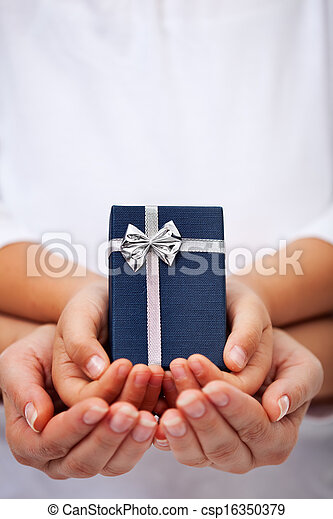Giving presents concept for the holidays - csp16350379