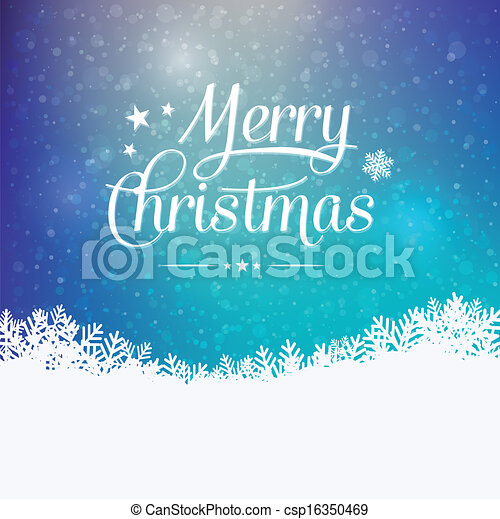 merry christmas colorful winter snowy background - csp16350469