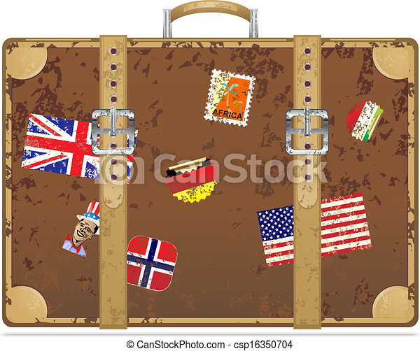 eps vectors of great holiday suitcase csp6710829 - search clip art