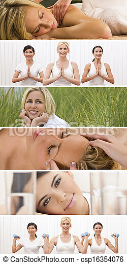 Montage Woman Healthy Spa Female Lifestyle - csp16354076