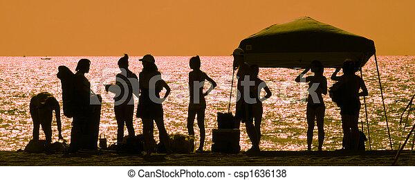 Friends on the beach - csp1636138