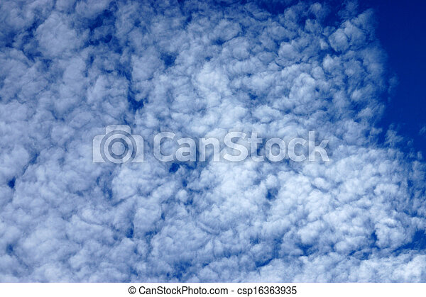 blue sky with white clouds - csp16363935