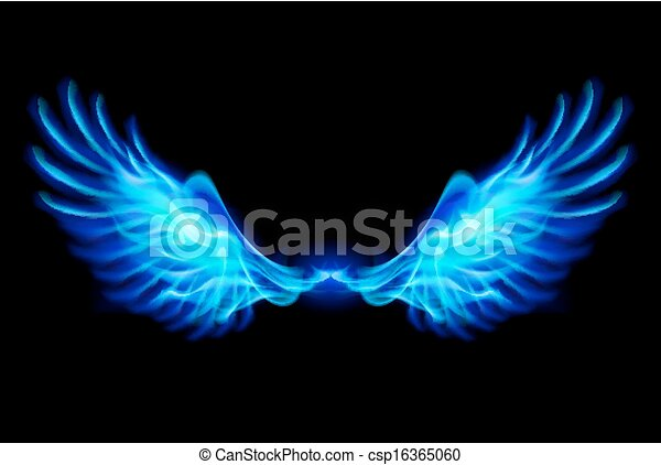 Blue fire wings. - csp16365060