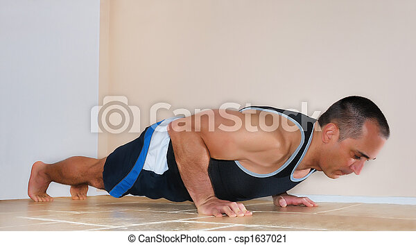 Man Doing Push Ups - csp1637021