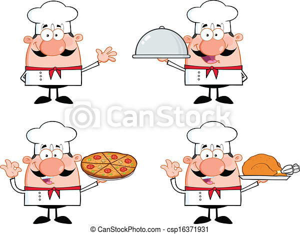 Chef Characters 1 Collection - csp16371931