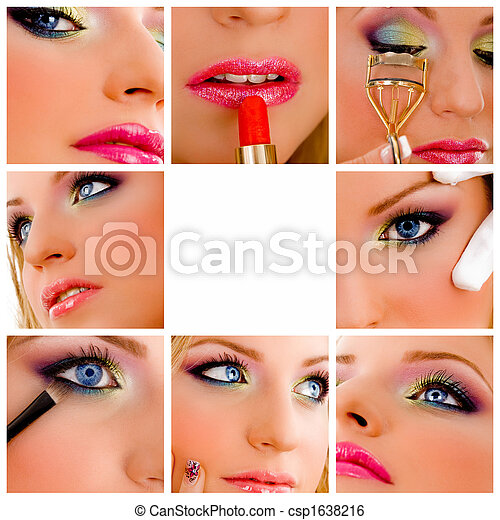 beauty - makeup collage - csp1638216