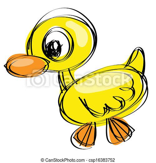Stock de Ilustrationes de Naif, dibujo, bebé, pato - caricatura ...