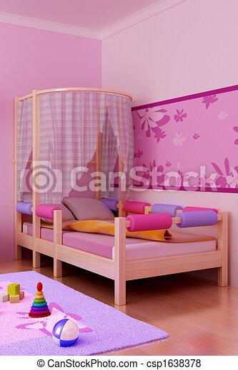 interior of the children\'s room - csp1638378