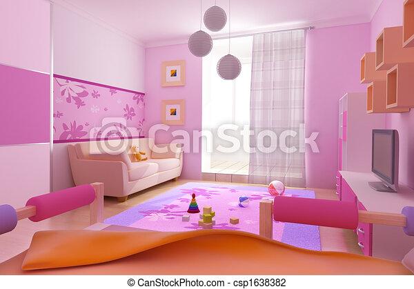interior of the children\'s room - csp1638382