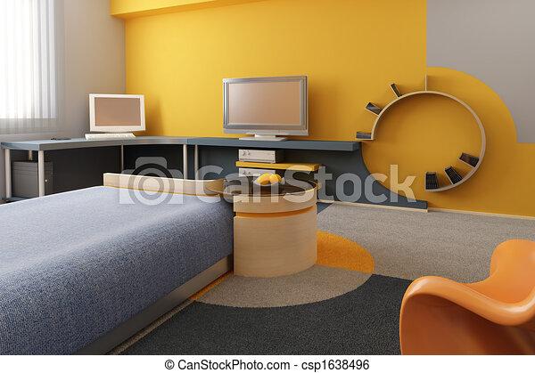 interior of the children\'s room - csp1638496
