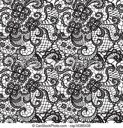 Lace Flowers Drawings Lace Seamless Pattern With