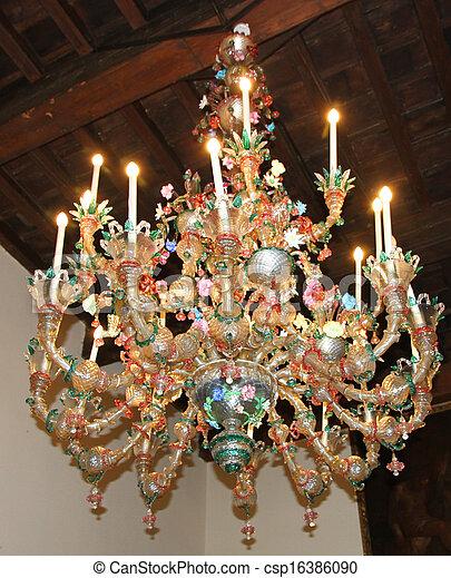 banque de photographies de verre lustre murano verre ancien v nitien villa. Black Bedroom Furniture Sets. Home Design Ideas