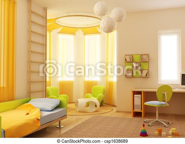children's room interior - csp1638689