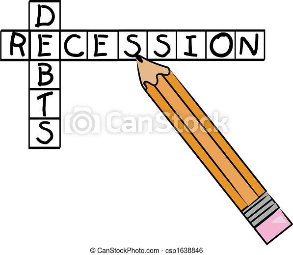 recession and debts crossword - csp1638846
