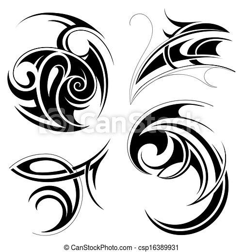 Tribal art set - csp16389931