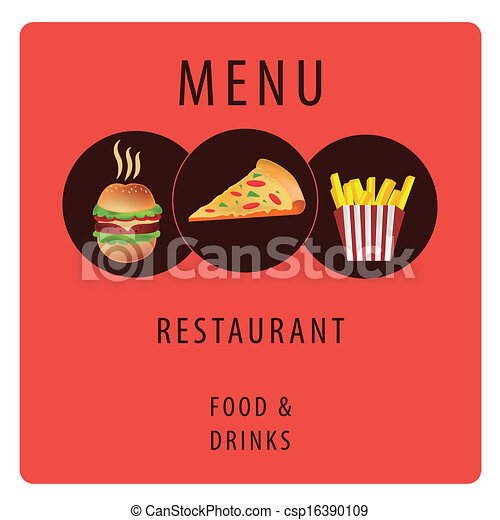 Fast Icon Design Fast Food For Menu Design