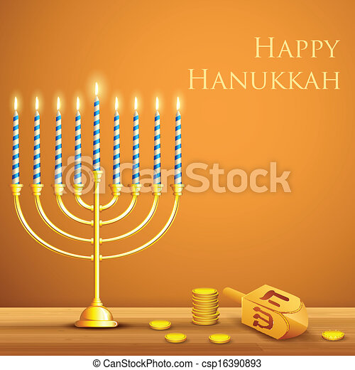 Hanukkah Background - csp16390893