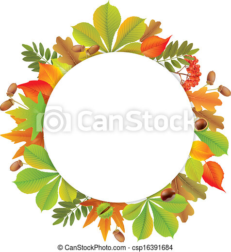 Round autumn banner. Contains transparent objects. EPS10 - csp16391684
