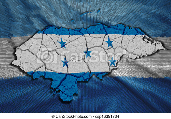 hondureño, mapa - csp16391704