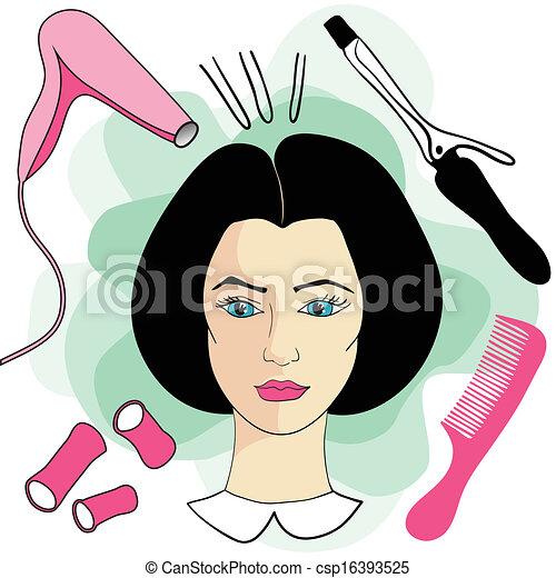 Clip Art Beauty Salon Clipart woman in a beauty salon vector clip art royalty free 518 girl hair with hair