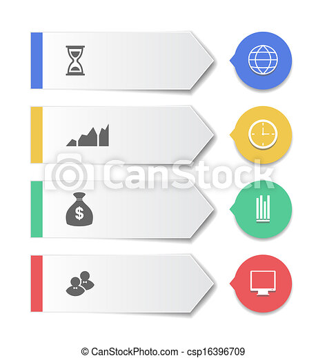 Set modern business banners with infographic icons - csp16396709
