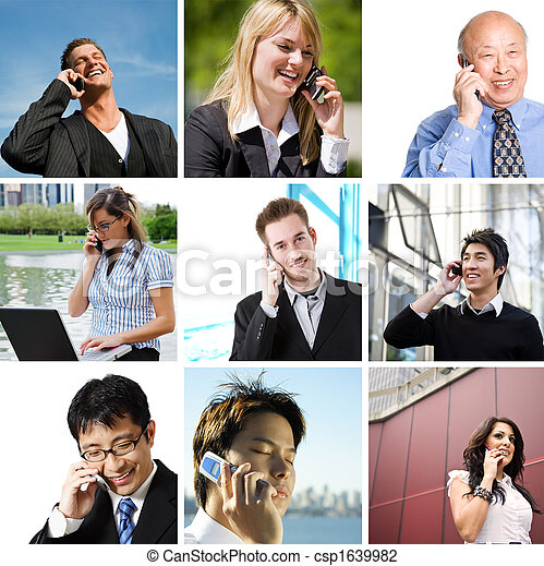 Business people talking on the phone - csp1639982