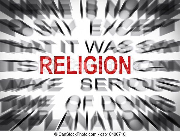 Blured text with focus on RELIGION - csp16400710
