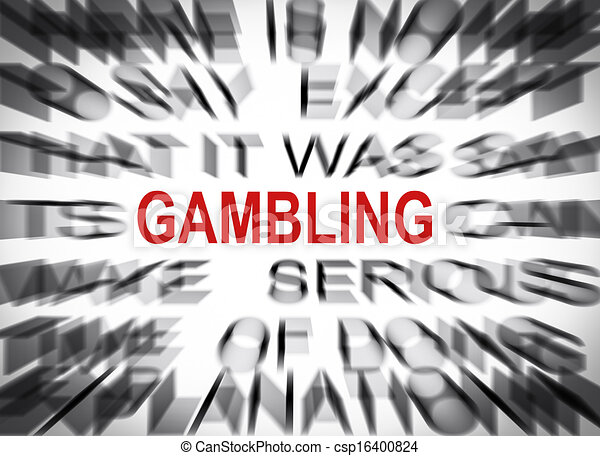 Blured text with focus on GAMBLING - csp16400824
