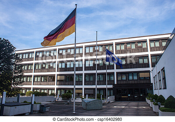 Former government building (Bundeshaus) in Bonn, Germany - csp16402980
