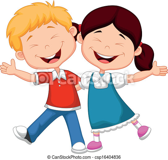 happy children cartoon csp16404836 - Cartoon Drawings Of Children