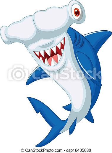 Vecteurs de mignon poisson marteau requin dessin anim for Comment dessiner un requin marteau