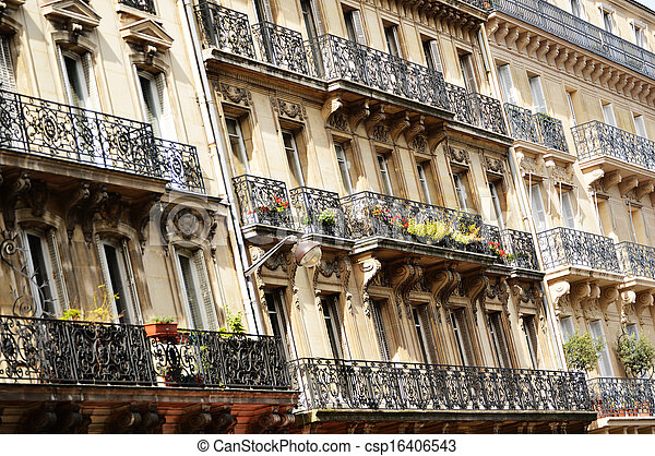 Original historic Parisian architecture - csp16406543