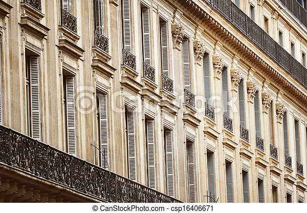 Original historic Parisian architecture - csp16406671