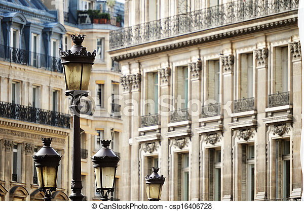 Original historic Parisian architecture - csp16406728