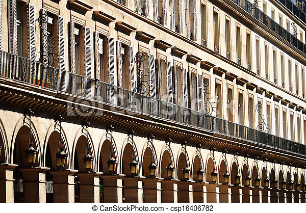 Original historic Parisian architecture - csp16406782