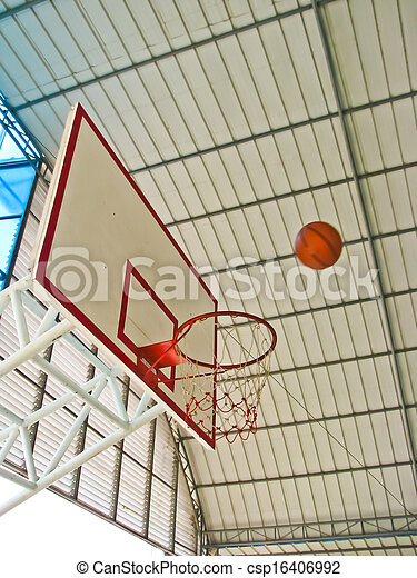 a ball going to basket