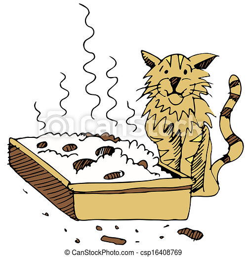 ... Clip Art together with Cat Litter Boxes Clip Art. on litter box clip