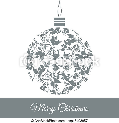 Clipart Vector of Christmas ball - Graphic Design ...