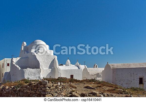 White Church on Mykonos - csp16410441