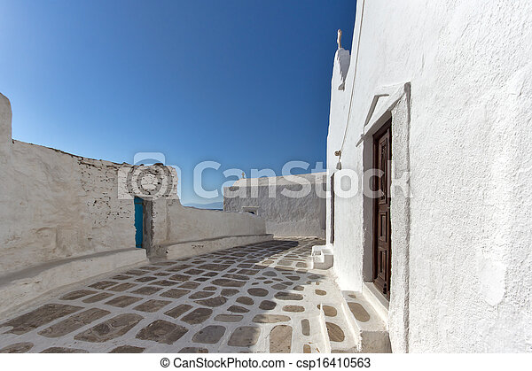 White Church on Mykonos - csp16410563