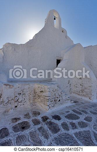White Church on Mykonos - csp16410571
