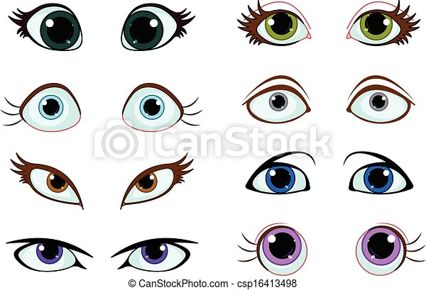 EPS vectores de ojos, Conjunto, caricatura - Conjunto, de ...