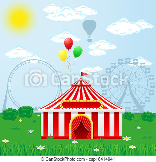circus tent on nature - csp16414941