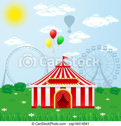 circus tent on nature - csp16414941