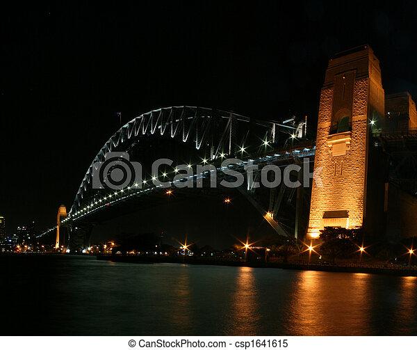 Sydney Harbour Bridge At Night - csp1641615