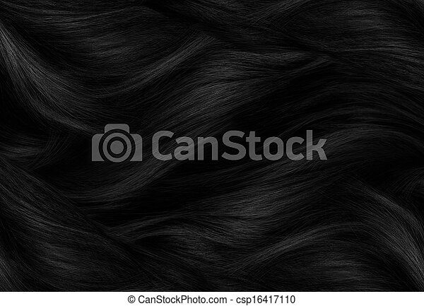 cabelo, pretas, textura - csp16417110