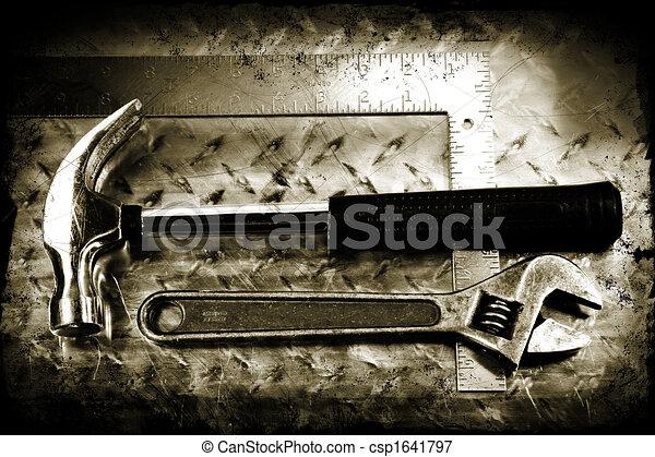 Grunge work tools - csp1641797