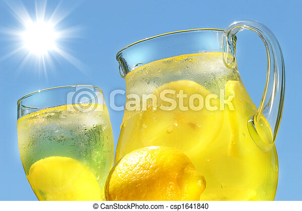 Cool lemonade on a hot summer day - csp1641840