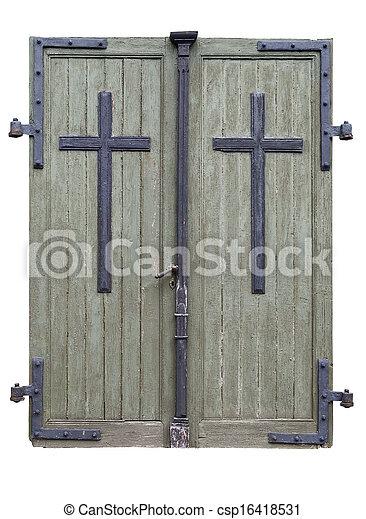 Church doors - csp16418531